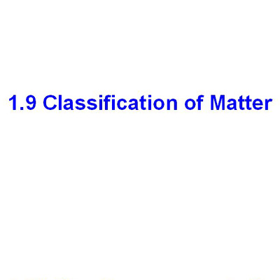 受保護的文章:1.9 Classification of Matter