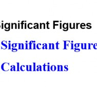 受保護的文章:020240 Significant Figures in Calculations